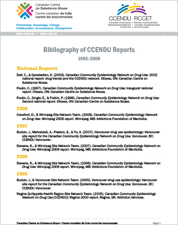 Bibliography of CCENDU Reports, 1995-2008