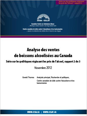 Analyse des ventes de boissons alcoolisées au Canada