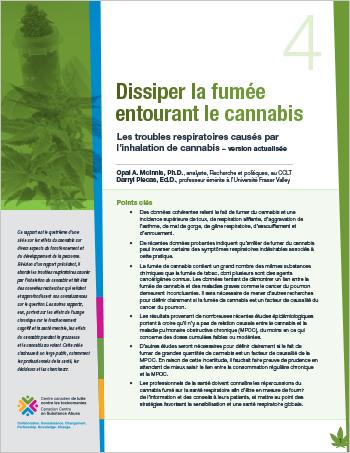 Dissiper la fumée entourant le cannabis : Les troubles respiratoires causés par l'inhalation de cannabis – version actualisée