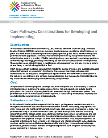 Care Pathways: Considerations for Developing and Implementing