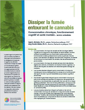 Dissiper la fumée entourant le cannabis : Consommation chronique, fonctionnement cognitif et santé mentale – version actualisée