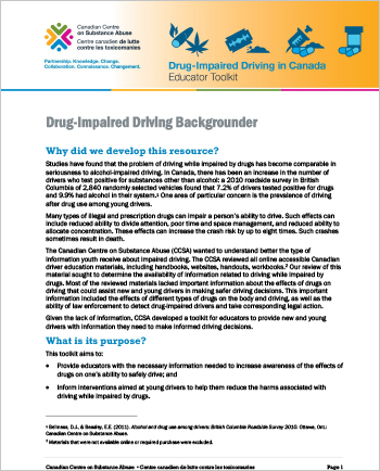 Drug-Impaired Driving Backgrounder