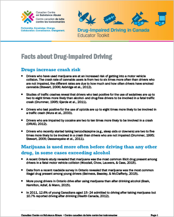 Facts about Drug-Impaired Driving