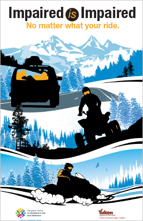 Impaired is Impaired: No Matter What Your Ride [winter poster]