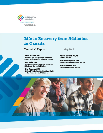 Life in Recovery from Addiction in Canada (Technical Report)