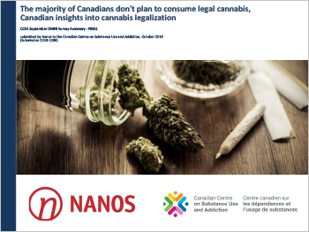 The Majority of Canadians Don't Plan to Consume Legal Cannabis, Canadian Insights into Cannabis Legalization
