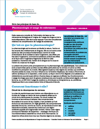 Pharmacologie et usage de substances (Série Les principes de base de…)