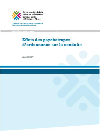 Effets des psychotropes d'ordonnance sur la conduite (Rapport)