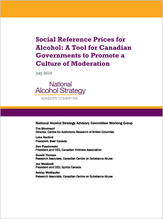 Social Reference Prices for Alcohol: A Tool for Canadian Governments to Promote a Culture of Moderation