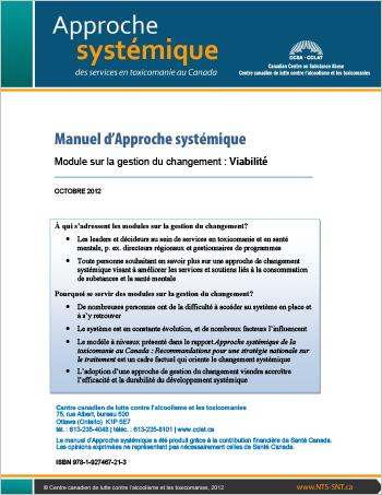 Manuel d'Approche systémique : Module sur la gestion du changement : Viabilité
