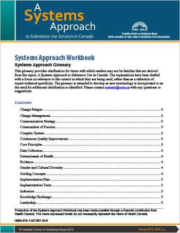 Systems Approach Workbook: Systems Approach Glossary