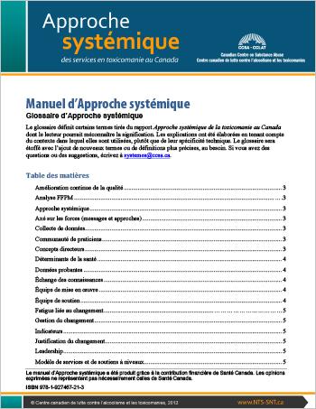 Manuel d'Approche systémique : Glossaire d'Approche systémique