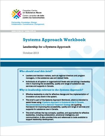 Systems Approach Workbook: Leadership for a Systems Approach