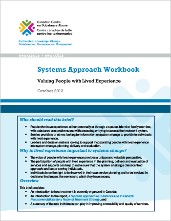 Systems Approach Workbook: Valuing People with Lived Experience
