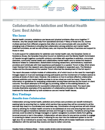 Collaboration for Addiction and Mental Health Care: Best Advice (Report in Short)