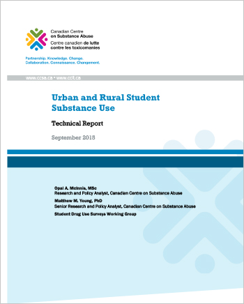 Urban and Rural Student Substance Use (Technical Report)