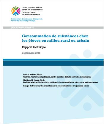 Consommation de substances chez les élèves en milieu rural ou urbain (Rapport technique)