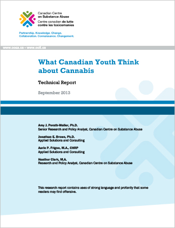 What Canadian Youth Think About Cannabis: Technical Report