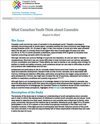 What Canadian Youth Think about Cannabis (Report in Short)