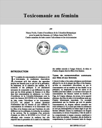Toxicomanie au féminin