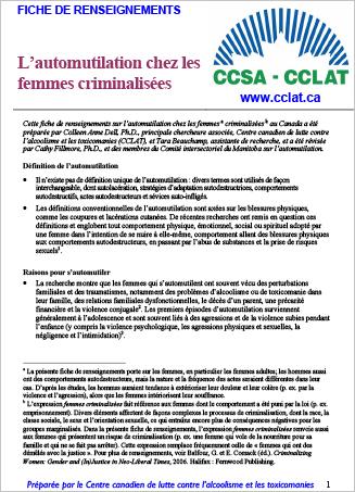 L'automutilation chez les femmes criminalisées