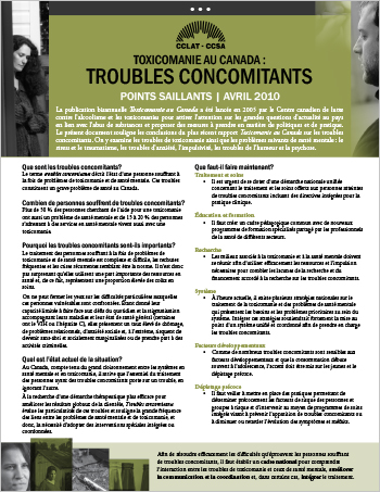 Troubles concomitants : Points saillants