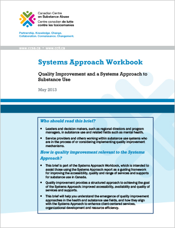Systems Approach Workbook: Quality Improvement and a Systems Approach to Substance Use