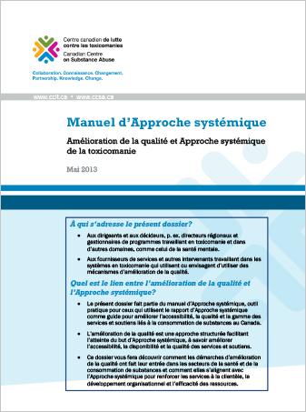 Manuel d'Approche systémique : Amélioration de la qualité et Approche systémique de la toxicomanie