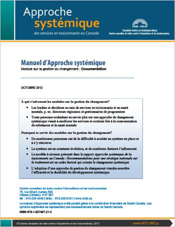 Manuel d'Approche systémique : Module sur la gestion du changement : Documentation