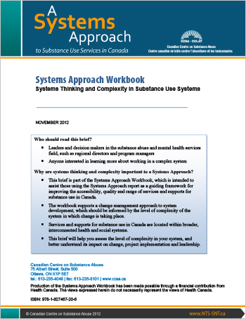 Systems Approach Workbook: Systems Thinking and Complexity in Substance Use Systems