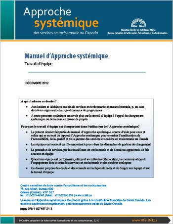 Manuel d'Approche systémique : Travail d'équipe