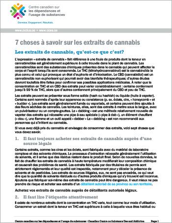 7 choses à savoir sur les extraits de cannabis
