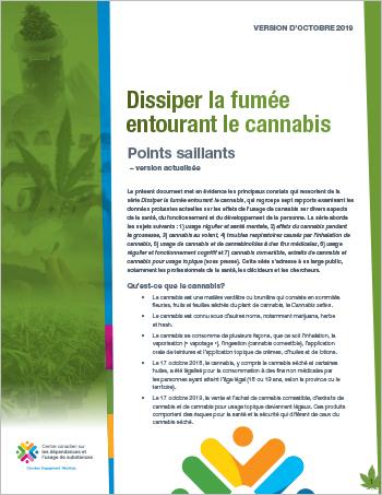 Dissiper la fumée entourant le cannabis : points saillants — version actualisée