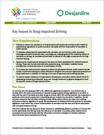 Key Issues in Drug-impaired Driving [Policy Brief]