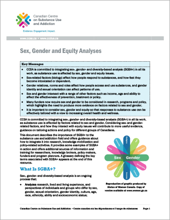Sex, Gender and Equity Analyses [Report]