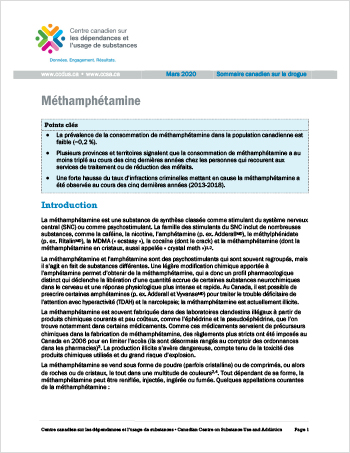 Méthamphétamine (Sommaire canadien sur la drogue)