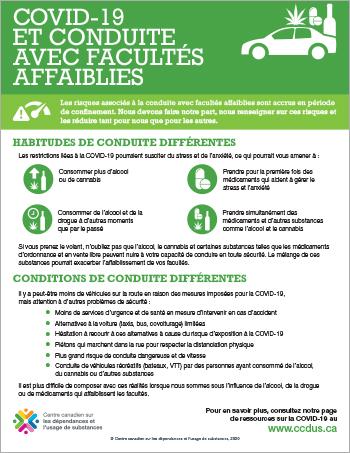 COVID-19 et conduite avec facultés affaiblies [infographie]