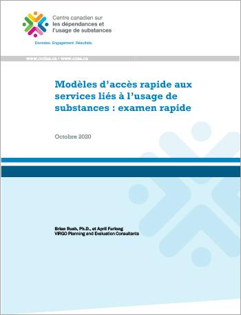 Modèles d'accès rapide aux services liés à l'usage de substances : examen rapide