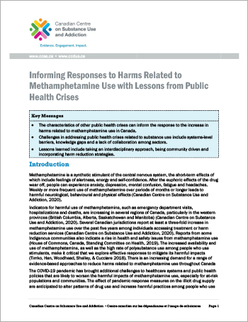 Informing Responses to Harms Related to Methamphetamine Use with Lessons from Public Health Crises [report]