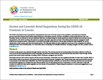 Alcohol and Cannabis Retail Regulations During the COVID-19 Pandemic in Canada