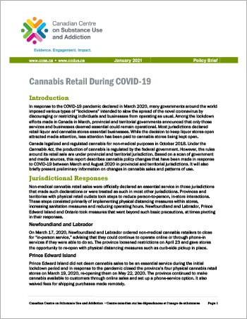 Cannabis Retail During COVID-19 [Policy Brief]