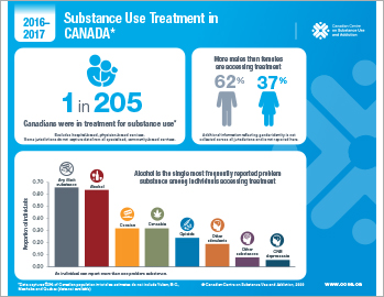 Substance Use Treatment in Canada 2016–2017 [infographic]