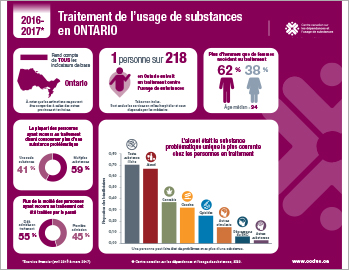 Traitement de l'usage de substances en Ontario en 2016–2017  [infographie]
