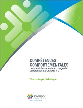 Chronologie historique (Compétences comportementales pour les intervenants en usage de substances au Canada)